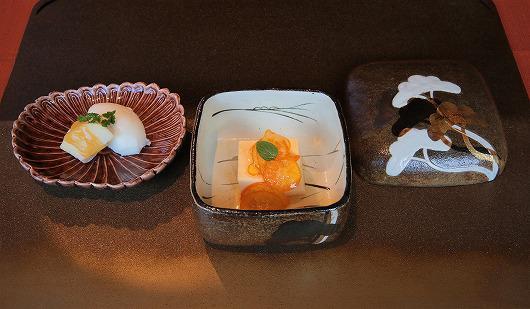 甘酒羹 金柑のソース と りんご飴とミルクアイス ~ 1月のデザート ~