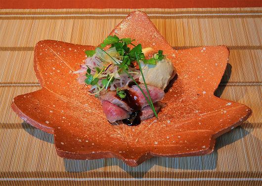 仙台牛たたき フォアグラムース添え ~ 7月の進肴 ~