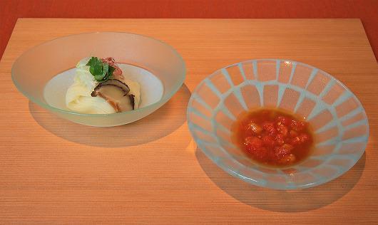 トマト出汁の稲庭うどん ~ 8月の食事 ~