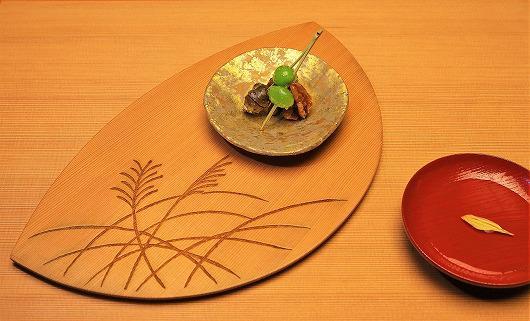 新銀杏と零余子と胡桃の初秋盛り ~ 9月の箸染め ~
