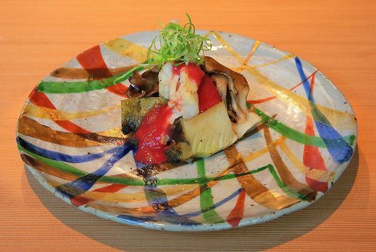 黒あわび と 牡丹海老 の 香味焼 ~ 9月の進肴 ~