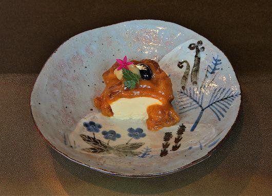 白味噌のババロア あんぽ柿と白味噌のソース ~ 2月のデザート ~