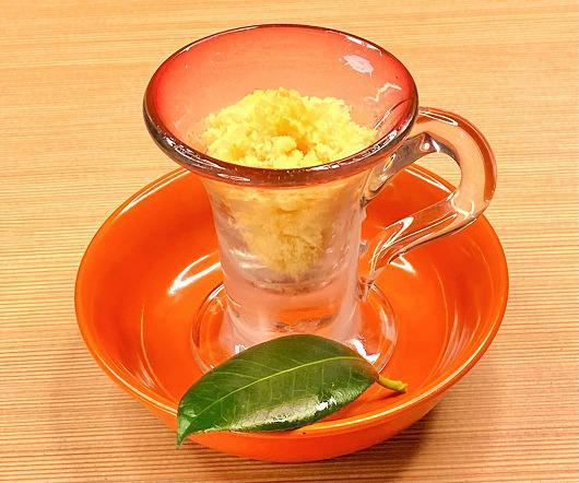 チャイとオレンジのソルベ