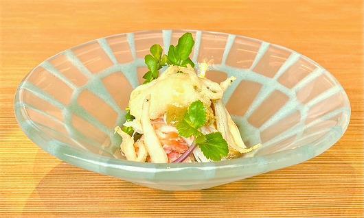白魚 と ずわい蟹 の 春霞サラダ ~ 3月の進肴 ~