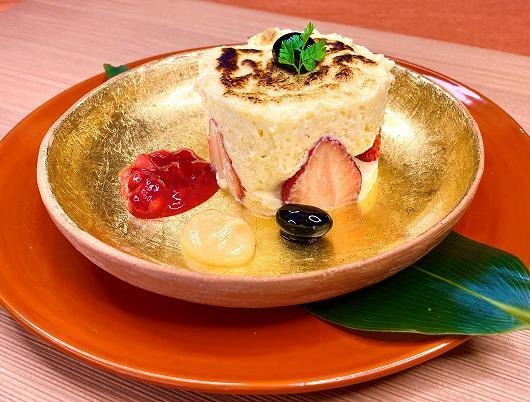 苺のチーズグラタン