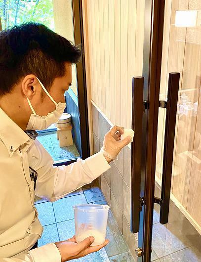抗ウィルスコーティング塗装実施