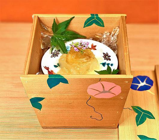冷し冬瓜 丸スープジェリー ~ 7月の箸染め ~